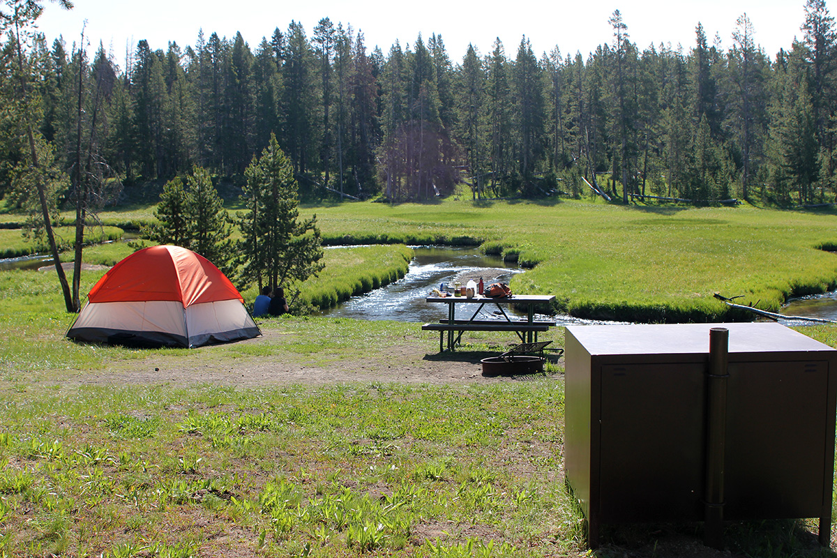 Norris Campground in Yellowstone National Park