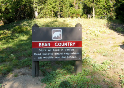 Bear Warning Sign at Indian Creek Campground