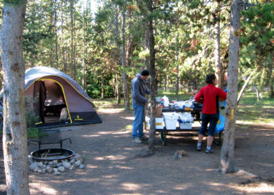 Campsite at Indian Creek Campground