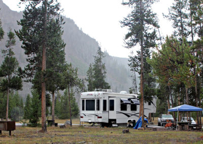 RV Site at Madison Campground