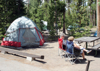 Campers at Grant Village Campground