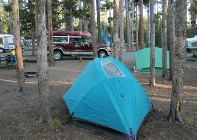 Grant Village Campground Tent Site