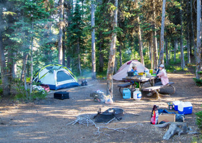 Campsite at Lewis Lake Campground
