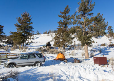 Winter in Mammoth Hot Springs Campground