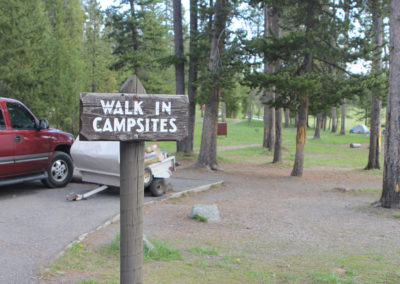 Norris Campground Walk in Sites