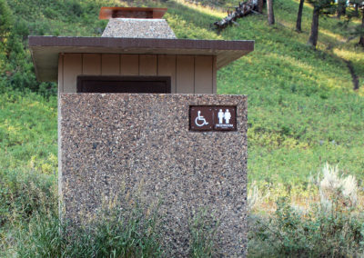 Vault Toilet at Slough Creek Campground