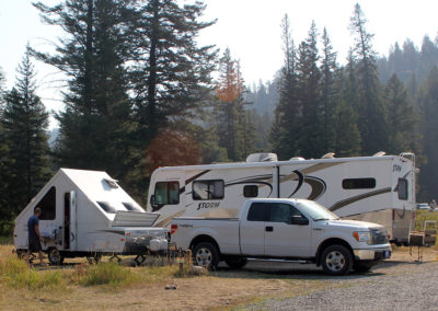 RV Site at Slough Creek Campground