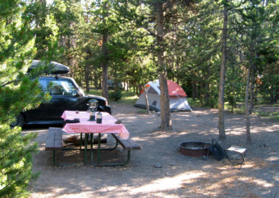 Tent Site at Indian Creek Campground