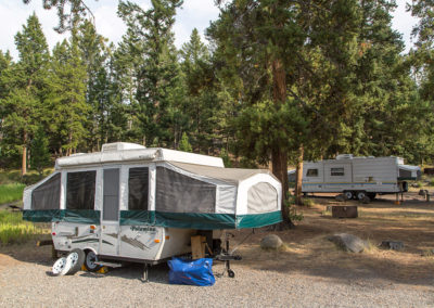 Tower Fall Campground RV Site
